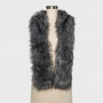 A Day Women's Faux Fur Stole Solid Grey