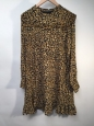 Who What Wear Women's Printed Mini Dress - Yellow Cheetah - Size: Xl