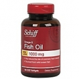Schiff Omega-3 Fish Oil Softgels, 1000 mg, 100/Pack