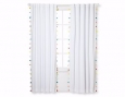 "Tassel Light Blocking Window Curtain White (84""x42"") - Pillowfort"
