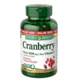 Natures Bounty Triple Strength Cranberry+Vitamin-C Value Size