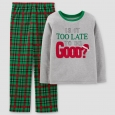 Just One You Made by Carter's Boys' 2pc Too Late To Be Good Pajama Set