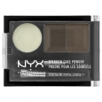 NYX Eyebrow Cake Powder, Dark Brown/Brown, .09 oz