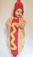 Baby Plush Hot Dog Bunting Costume - 0-6 Months - Hyde And Eek Boutique