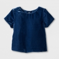 Toddler Girls' Velvet Top - Genuine Kids from OshKosh Marine Blue 12M