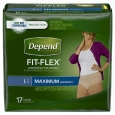 Depend for Women Underwear, Maximum Absorbency Large