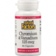 Natural Factors Chromium And Vanadium 125 mcg - 90 Capsules