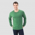 Fruit Of The Loom Men's Long Sleeve T-Shirt - Holly Green Heather 2XL
