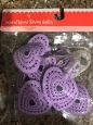 Purple Heart String Lights Battery Operated 6 Feet Cord Easter Spring
