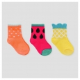 Baby Girls' 3-Pack Fruit Print Socks 12-24 M - Cat & Jack, Pink