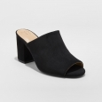 Women's Didi Block Heel Mules - A New Day Black 9