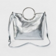 Women's Ring Satchel - T-shirt & Jeans Silver