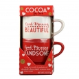 Galerie Valentine's Day Stacking Mugs With Cocoa - 2oz