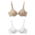 Maidenform Self Expressions Women's T-shirt Bra 5701 2-pack Latte/white