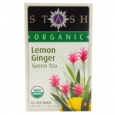 Stash Premium Organic Green Tea Lemon Ginger 18 Tea Bags