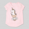 L.O.L. Vintage Girls' Uni-Cone Graphic Short Sleeve T-Shirt - Light Pink L