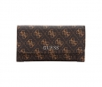GUESS Delaney Logo Slim Clutch Wallet (Brown Logo)
