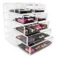 Sorbus® Acrylic Cosmetics Makeup and Jewelry Storage Case Display- 3 Large and