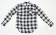 A Day Womens Plaid Button Up Down Shirt Black / White Xs 08838