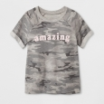 Grayson Social Girls' 'Amazing' Graphic Short Sleeve Sweatshirt - Heather Gray L