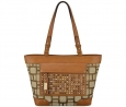 Nine West Mini Vegas Signs Tote (Khaki/Tobacco)