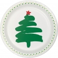 30ct Green And White Printed Snack Plate - Spritz