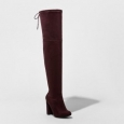 Women's Penelope Heeled Over The Knee Boots - A Day&153; Burgundy 7