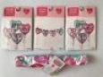 Set Of 2 Valentine's Day Dish Towels Hearts Bff Grl Pwr Purple