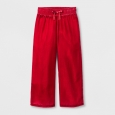 Girls' Velvet Wide Leg Fashion Pants - Cat & Jack Red L