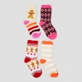 Girls' Crew Socks 4pk - Cat & Jack Pink M