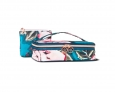 Sonia Kashuk Painterly Floral Small Train Case Cosmetic Organizer Travel Bag