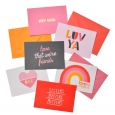 Galentine's Day Notecards 12ct - Junk Food, Multi-Colored