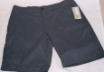 Jack Nicklaus Golf Shorts 36 Staydri Stretch Blue Gray Micro Striped Cell Pocket