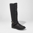 Women's Magda Lace-up Tall Boots - Mossimo Supply Co. Black 8