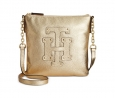 Tommy Hilfiger Patch Pebble Leather Crossbody (Metallic Gold)