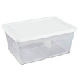 Sterilite? 16 Quart Basic Clear Storage Box with White Lid