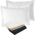 Fresh Ideas 2 Pack Fresh Ideas Poplin Tailored Sham: Standard sized Pillow Case