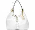 MICHAEL Michael Kors Camden Large Drawstring Shoulder Tote (Optic White/Gold)