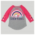 Girls' Shopkins 3/4 Sleeve Raglan T-Shirt - Heather Gray XL