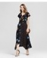 Women's Mixed-print Maxi Dress - Xhilaration (juniors') Black M