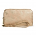 Women's Zip Around Cell Phone Wallet with Wristlet - Mossimo, Lt Tan