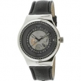 Swatch Men's Sistem Solaire YIS414 Silver Leather Automatic Fashion Watch