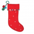 Red Pom Christmas Stocking - Wondershop