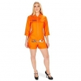 Orange Prisoner Jumpsuit Adult Costume L