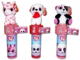 Beanie Boo's Valentines Day Plush Sticker Dispenser With Candy, Pack Of 3