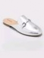 Women's Kona Backless Mule Loafers - Merona Silver 8.5