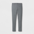 Girls' Ponte Fashion Pants - Cat & Jack Heather Gray L