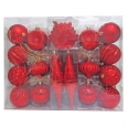 40ct Fashion Red Christmas Ornament Set - Wondershop