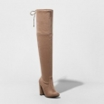 Women's Penelope Heeled Over The Knee Boots - A Day Light Taupe 7
