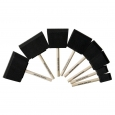 Hand Made Modern Foam Brush Set - 8pc Varying Sizes